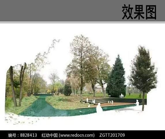 滨水公园景观效果图图片