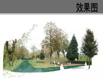 滨水公园景观效果图
