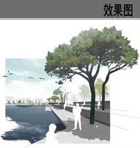 滨水广场效果图
