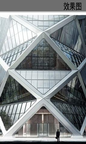不规则商场建筑效果图