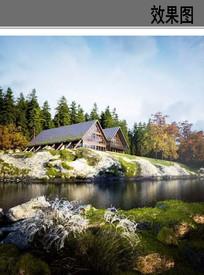 度假别墅建筑景观效果图