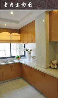 黄色调厨房装修