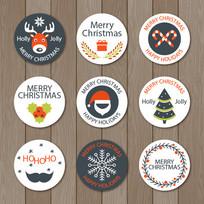 简约圣诞节矢量标签设计