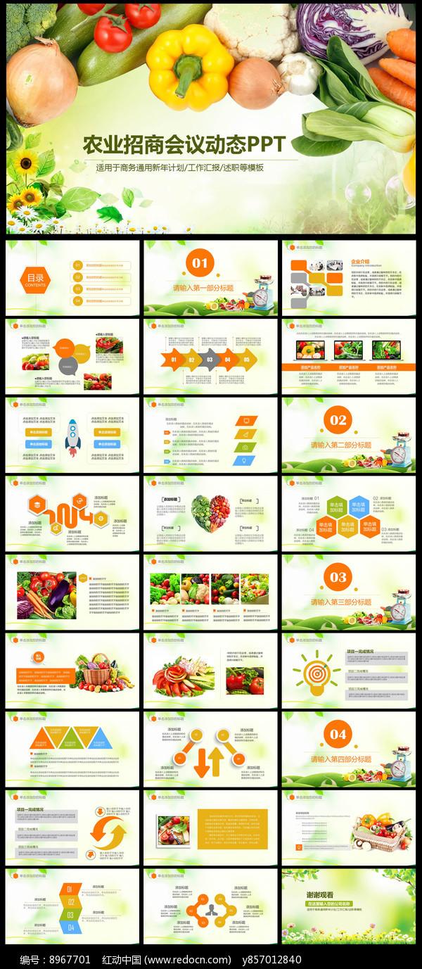 绿色生态农业招商农产品PPT图片