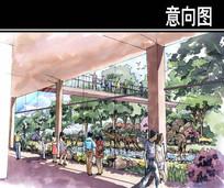 某河生态走廊动物园手绘图