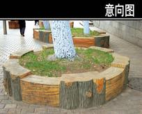 木头围树池 JPG