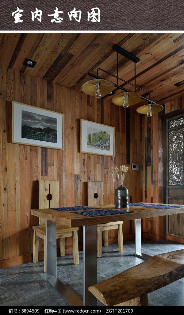 木质餐厅空间图片