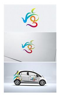 唐字变形文字茶叶logo