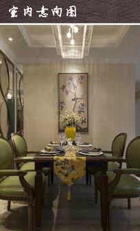 现代家装餐厅布置