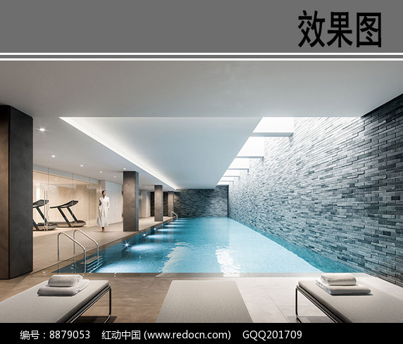 别墅室内游泳池效果图图片