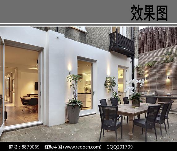 别墅庭院露台设计效果图图片