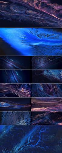 彩色斑斓油彩油画粒子粉末