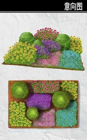 长方形花境