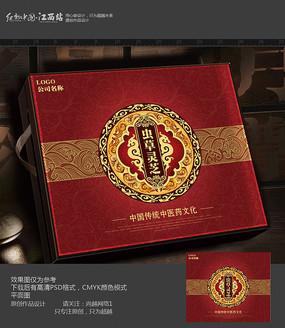 虫草灵芝包装盒设计 PSD