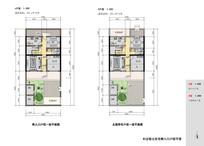 村庄住房侧入口户型平面图