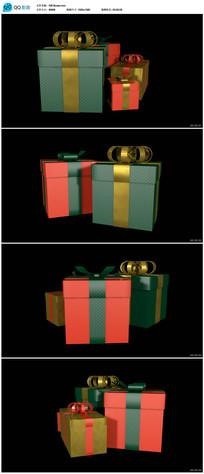 带透明通道生日礼品盒视频