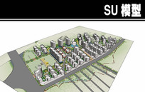 概念设计小区模型