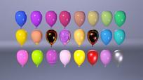 各种颜色气球C4D模型