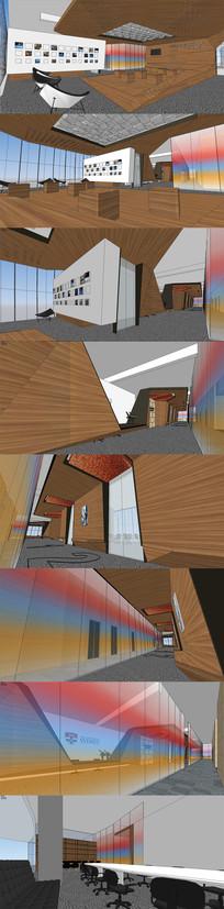 国外大学图书馆SU模型