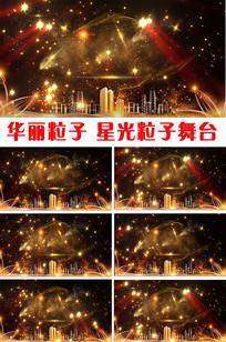 华丽金色粒子星光舞台视频 mp4