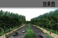 教育园区一期景观大道效果图