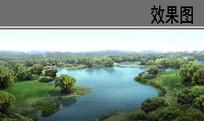 教育园区一期校园景观湖效果图