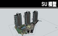 精彩的住宅和商业建筑模型