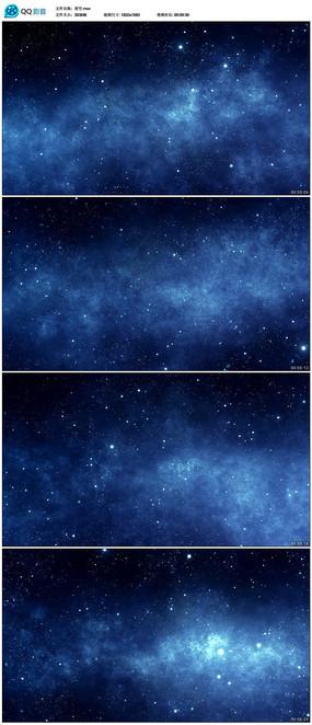 蓝色星空粒子背景视频