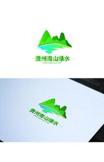 绿色清新旅游logo