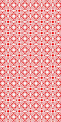 民族红花纹理图案