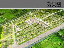 民族特色住宅区方案鸟瞰图