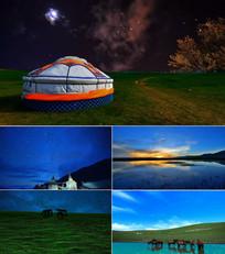 配乐成品草原的月亮背景视频
