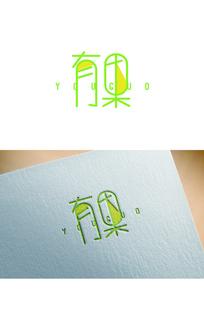 清新甜美水果logo AI