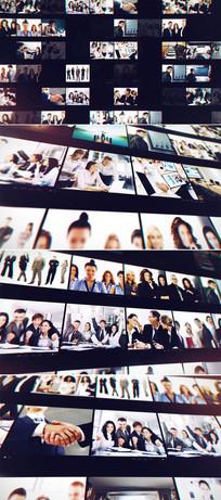 企业照片墙标志显示模板