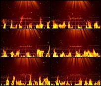 热情火热火焰光线舞台背景视频