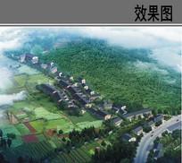 山村规划设计鸟瞰效果图 JPG