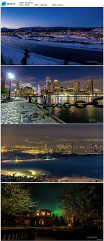 唯美城市夜景实拍视频
