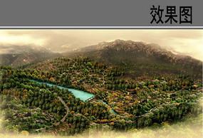 乡村风景鸟瞰图
