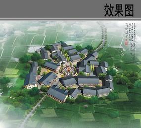 乡村住房规划设计鸟瞰图 JPG