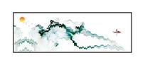 新中式抽象山水墨彩意境装饰画