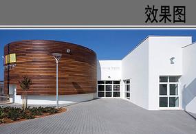 幼儿园建筑设计透视效果 JPG