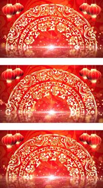 元旦春节联欢晚会视频包装背景视频