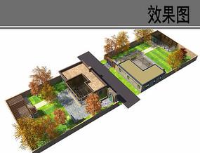 院落与建筑设计鸟瞰图