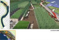运河汉沽段沿河景观效果图