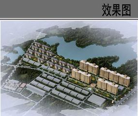 中心村近期规划布局鸟瞰图
