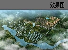 中心村整体规划布局鸟瞰图