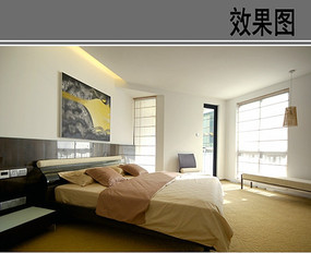 多边形卧室场景效果图