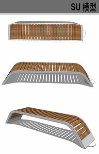 弓形坐凳su模型