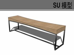 简易木凳su模型