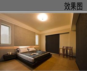 简约中式超大卧室